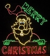 Merry Christmas Santa Claus LED Lighted Outdoor Commercial Christmas Decoration
