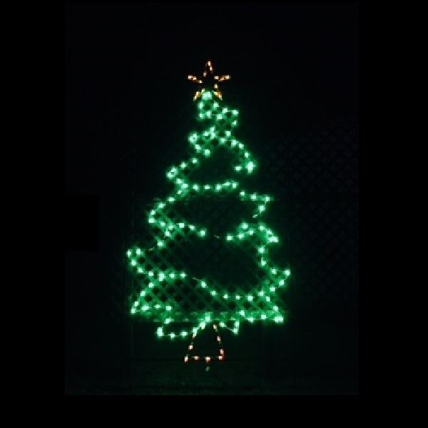 Christmas Tree Whimsical LED Lighted Outdoor Commercial Christmas Decoration