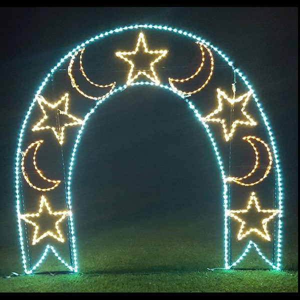 walk thru moon and stars arch commercial led lighted outdoor lawn decoration