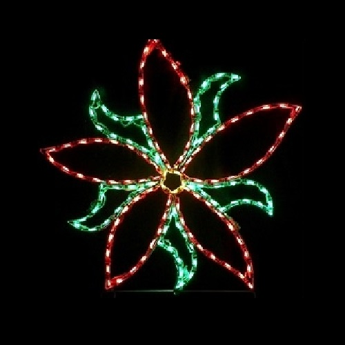 Poinsettia Large LED Lighted Outdoor Lawn Decoration