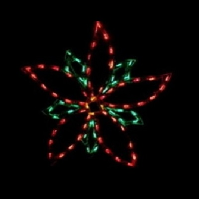 Poinsettia LED Lighted Outdoor Flower Decoration