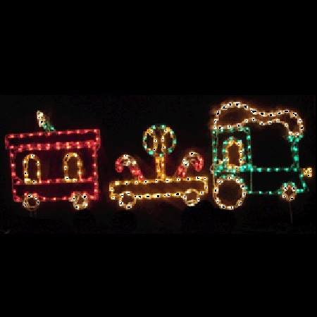 Lollipop Train Lighted Outdoor Christmas Decoration