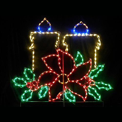 LED Outdoor Christmas Decorations - Lighted Candle Decorations ...