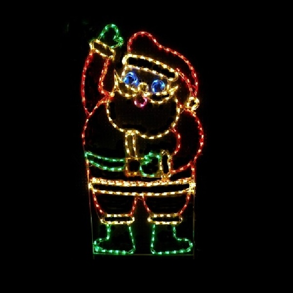 Santa Claus LED Lighted Outdoor Christmas Decoration