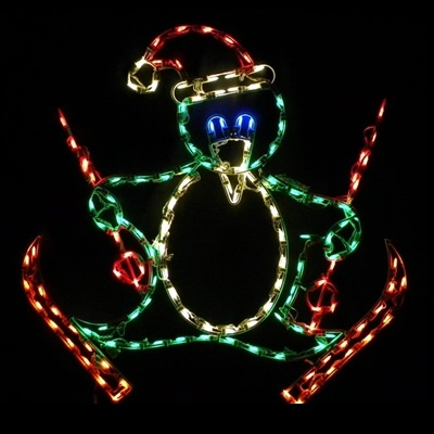 Penguin on Skis LED Lighted Outdoor Christmas Decoration