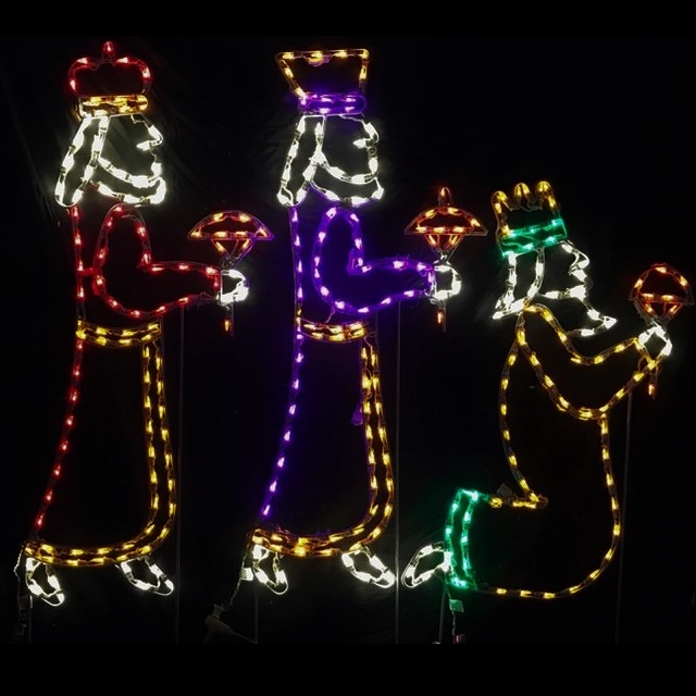 Wisemen LED Lighted Outdoor Christmas Decoration