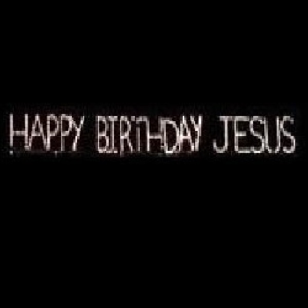 Happy Birthday Jesus Sign LED Lighted Outdoor Christmas Decoration