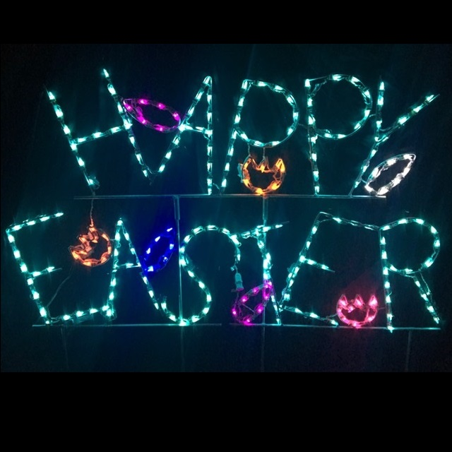 Happy Easter LED Lighted Outdoor Lawn Decoration