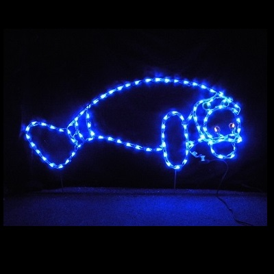 Manatee LED Lighted Outdoor Nautical Decoration