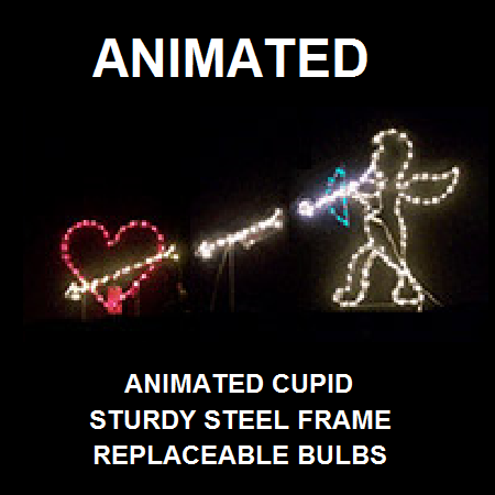 Cupid Shooting Heart LED Lighted Valentines Day Decoration