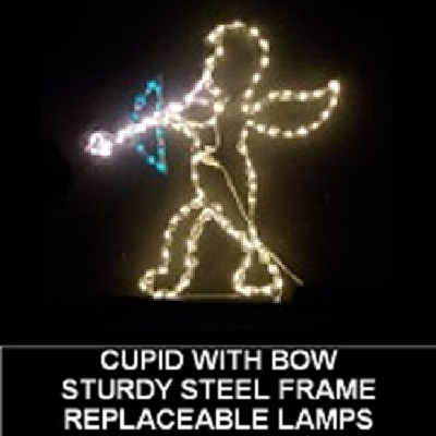 Cupid with Bow LED Lighted Valentines Day Decoration