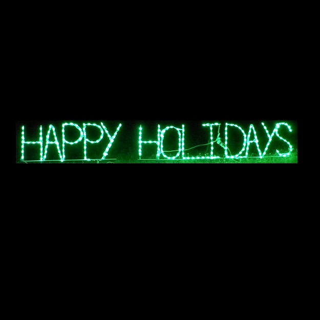 Happy Holidays Sign LED Lighted Outdoor Christmas Decoration
