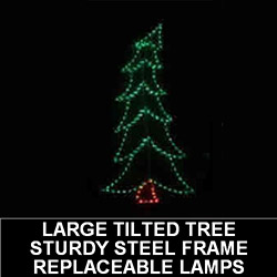 Christmas Tree Swaying Large LED Lighted Lawn Decoration