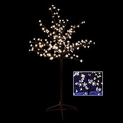 5 Foot Cherry Blossom Tree - 180 LED Warm White Lights