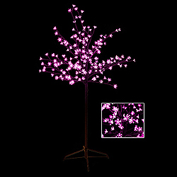 5 Foot Cherry Blossom Tree - 180 LED Pink Lights