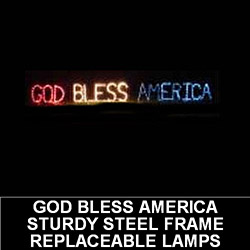 God Bless America Outdoor LED Lighted Lawn Decoration