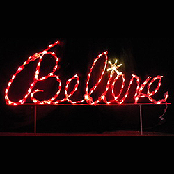 LED Outdoor Christmas Decorations - Lighted Holiday Signs ...