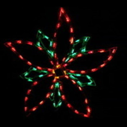 poinsettia led lighted outdoor flower decoration - Lighted Christmas Decorations