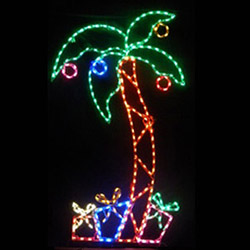 palm tree with ornaments and gifts led lighted outdoor lawn decoration - Palm Tree Decorated For Christmas