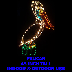 pelican led lighted outdoor lawn decoration - Lighted Christmas Lawn Decorations