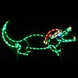 Led outdoor christmas decorations lighted animal for Alligator yard decoration
