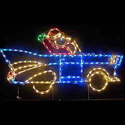 Santa Claus in a 1957 Chevy Convertible LED Lighted Outdoor Christmas Lawn Decoration
