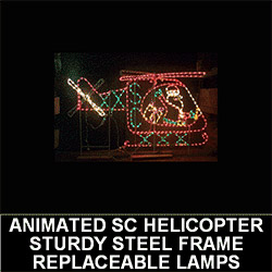 Santa Claus Helicopter Animated LED Lighted Outdoor Christmas Decoration