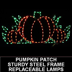 Harvest Pumpkin Patch LED Lighted Outdoor Thanksgiving Decoration