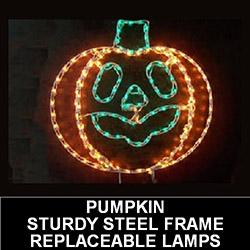 Jack-O-Lantern Pumpkin LED Lighted Outdoor Halloween Decoration