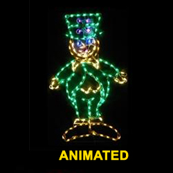 Saint Patricks Day LED Lighted Leprechaun Decoration