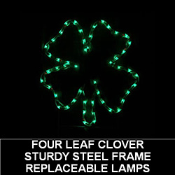 Shamrock LED Lighted Outdoor Saint Patricks Day Decoration