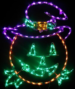 Pumpkin With Hat LED Lighted Lawn Decoration