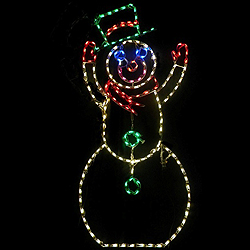 6 Foot Animated Tipping Hat Snowman LED Lighted Outdoor Lawn Decoration