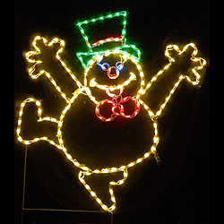 Dancing Frosty the Snowman LED Lighted Lawn Decoration