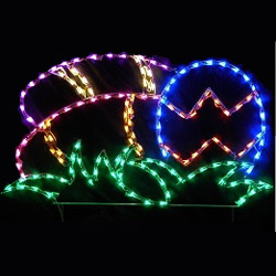 Easter Eggs in Grass LED Lighted Outdoor Easter Decoration