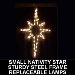 small hanging nativity star outdoor led lighted christmas decoration - Christian Outdoor Christmas Decorations