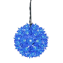 6 Inch Twinkle Star Sphere - 50 Blue Lights