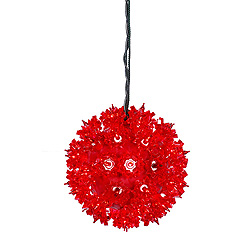 6 Inch Twinkle Star Sphere - 50 Red Lights