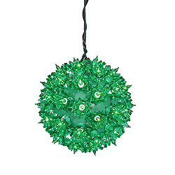 6 Inch Twinkle Star Sphere - 50 Green Lights