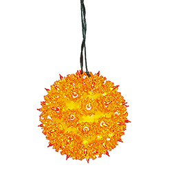 50 Orange Light 6 Inch Twinkle Star Sphere