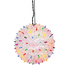 100 Multi Light 7.5 Inch Twinkle Star Sphere