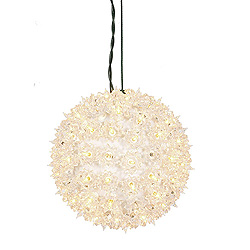 7.5 Inch Twinkle Star Sphere - 100 Clear Lights