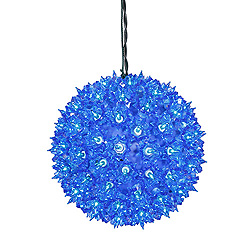7.5 Inch Twinkle Star Sphere - 100 Blue Lights