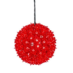 7.5 Inch Twinkle Star Sphere - 100 Red Lights