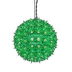 7.5 Inch Twinkle Star Sphere - 100 Green Lights