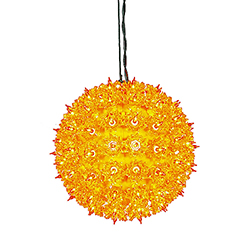 100 Orange Light 7.5 Inch Twinkle Star Sphere