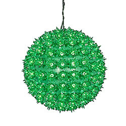 150 Green Light 10 Inch Twinkle Star Sphere