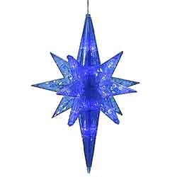 Blue LED Bethlehem Star - 50 LED Blue Lights