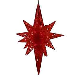 20 Inch Red Bethlehem Star - 50 LED Red Lights