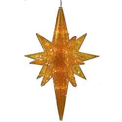 Amber LED Bethlehem Star - 50 LED Amber Lights